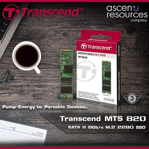 Ascenti Resources เปิดตัว SSD รุ่นใหม่ Transcend MTS820 M.2 2280 SSD สุดคุ้ม น่าอัพเกรด