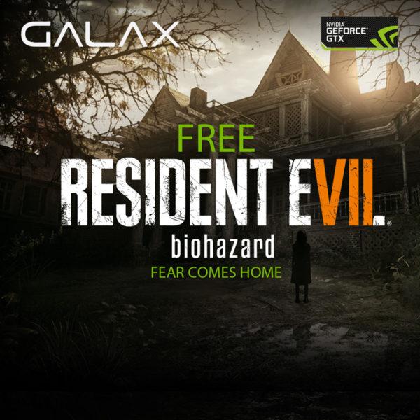 GALAX การ์ดจอ คอเกม จัดโปรโมชั่นสุดหลอน!! RESIDENT EVIL 7 ที่คุณไม่ควรพลาด!!