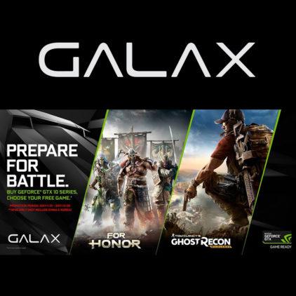 GALAX ขยายเวลาโปรโมชั่นแถมเกม ถึง 18 เม.ย 60 นี้!! เมื่อซื้อการ์ดจอ GALAX GTX  1060 /1070 / 1080