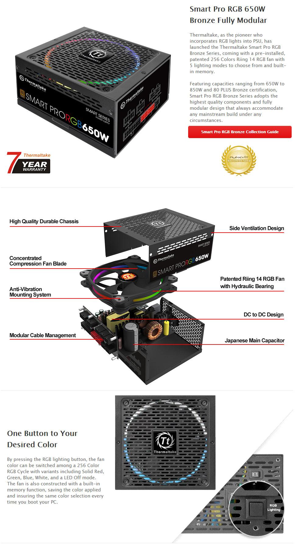 Thermaltake Smart Pro Rgb 650w  U2013 Ascenti Co Th