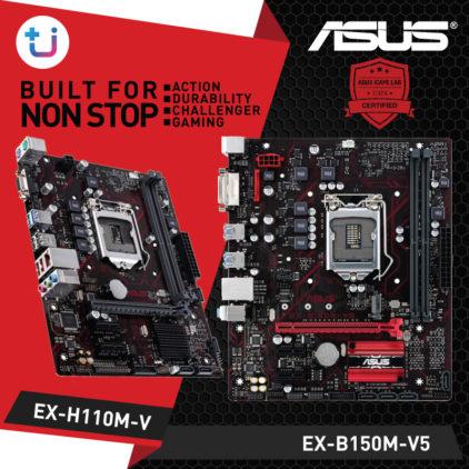 ASUS เปิดตัวเมนบอร์ดสุดทน คุณภาพสูง รุ่น EX-B150M-V5 และ EX-H110M-V