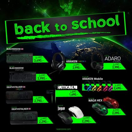 RAZER จัดโปรโมชั่นลดราคาสินค้าครั้งใหญ่ ต้อนรับ Back to School