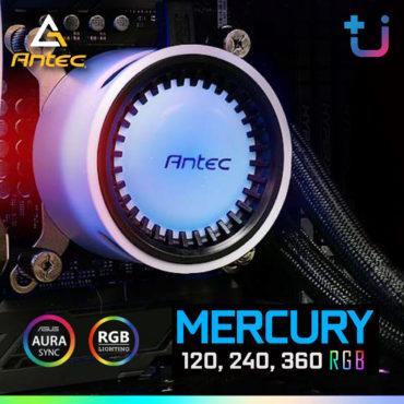ปั้มใหญ่ เย็นจริง !! Antec Mercury RGB ชุดระบายความร้อนด้วยน้ำ+ไฟ RGB ราคาสุดคุ้ม