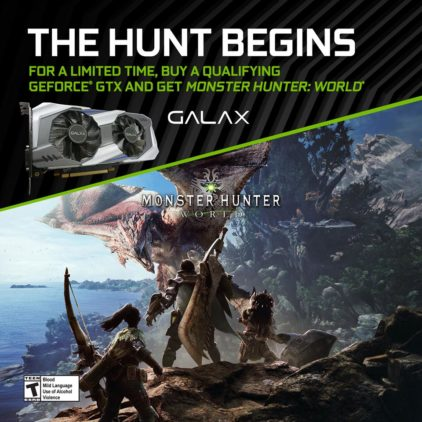 GALAX จัด Promotion ซื้อการ์ดจอ   เเถมฟรี !!!!  Game Monster Hunter World
