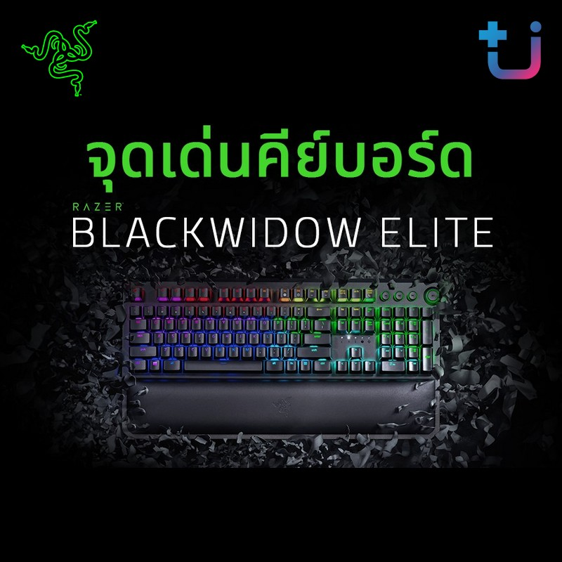 จุดเด่นคีย์บอร์ด Razer Blackwidow Elite