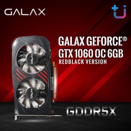 เพิ่มความแรง ให้มากกว่าเดิมด้วย GDDR5X !! กับกราฟิก  GALAX GeForce GTX 1060 OC 6GB REDBLACK Version