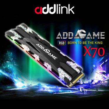 Addlink X70 Gamer M.2 Nvme SSD ไฟสวยสดใส เย็นสบายสุด COOL !!